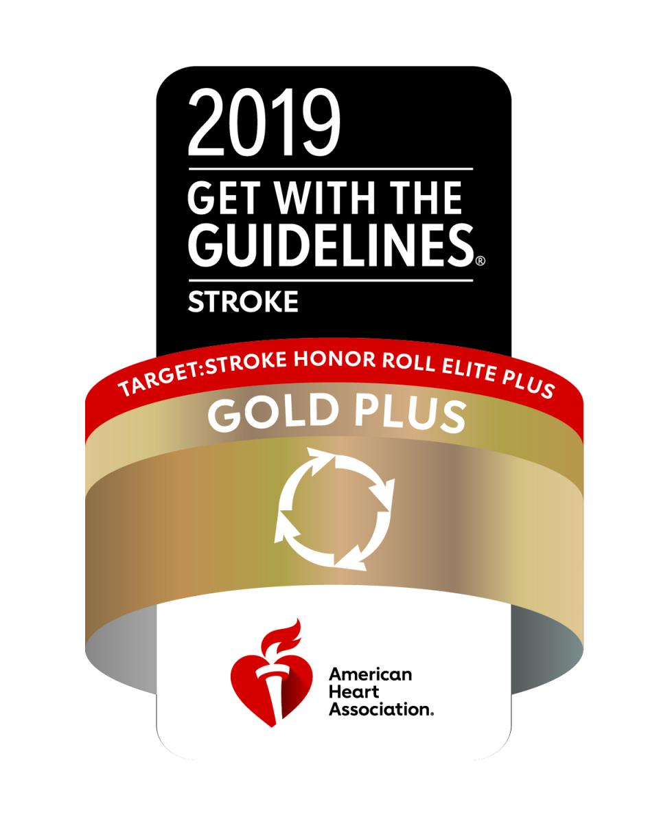 Premio Get With The Guidelines®-Stroke Gold Plus Quality Achievement de la American Heart Association/American Stroke Association