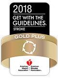 Premio Get With The Guidelines®-Stroke Silver Plus Quality Achievement Award de la American Heart Association/American Stroke Association