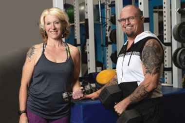 Mary and Brien Siemantel at the gym