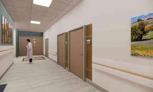 New Labor and Delivery Unit Hallway
