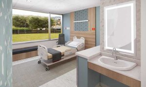 Patient Room View 2 - New Labor and Delivery Unit