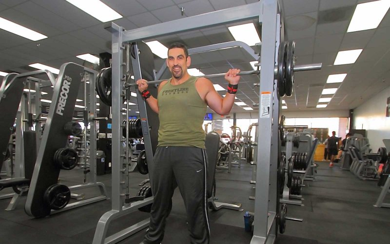 Alfonso Magana at the gym